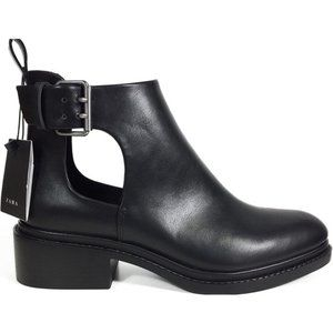 Zara On trend classic open side buckle ankle boots